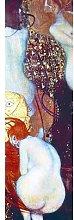 Quadro con lavorazione in finitura bianca - Klimt