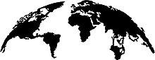 Quadro in Metallo da parete World Map Mappamondo