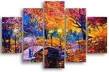 Quadro Paesaggio, multicolore