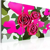 Quadro - Rose Di Neone - Trittico 120x80cm Erroi