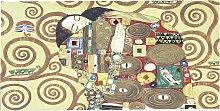 Quadro tela classico Abbraccio Klimt - 50x100