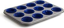 Quid 7559029-Teglia da forno per 12 Cupcakes Sweet