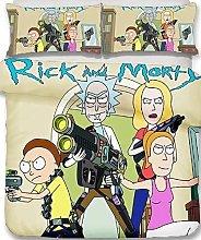 QWAS Rick and Morty, set di biancheria da letto