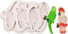 QWET Stampo da forno QWET 3D Uccelli Pappagallo