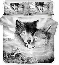 QXbecky Biancheria da letto serie lupo 3D stampa e