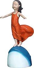 Ragazza Modello Arte Moderna Figurine Scultura In