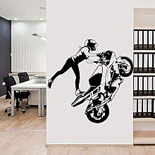 Ragazza Moto Racing Sticker Racing Poster Vinile