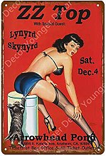 Ragazza Sexy Poster Retro Targa in Metallo Targa