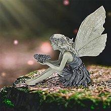 Ragazza Uccelli Mangiatoia Statua Esterna Resina