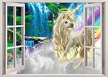 Rainbow Fantasy 3D finestra rimovibile Wall View