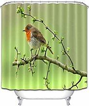 Ramoscello germoglio uccello verde semplice tenda