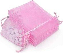 Rapecott 100pz 9x12cm rosa Organza coulisse