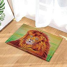 Re leone decorativo della foresta