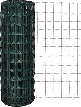 Recinzione Europea in Acciaio Verde 10 x 0,8 m -