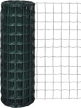 Recinzione Europea in Acciaio Verde 25 x 0,8 m -