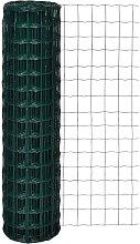 Recinzione Europea in Acciaio Verde 25 x 1,5 m -