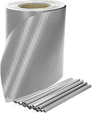 Recinzione PVC 35m x 19cm rotolo grigio