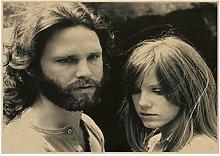 REDWPQ Le Porte Jim Morrison Vintage retrò Rock