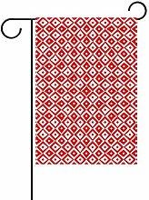 REFFW Bandiera da Giardino Art Christmas Red