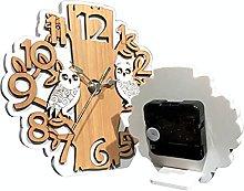 regalami.shop orologio in legno naturale h.19 cm