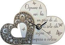 regalami.Shop Orologio in Marmo di Carrara e Legno