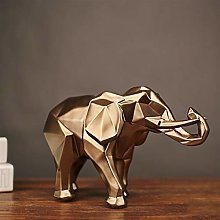Regalo Geometrico Elefante Scultura Artigianato
