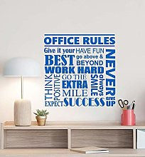 Regole Dell'Ufficio Adesivo Murale Poster