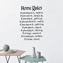 Regole della casa Adesivi murali Adesivi murali