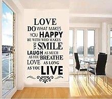 Regole della casa adesivi murali camera dei