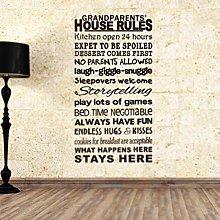 Regole della casa Famiglia Amore Adesivo murale