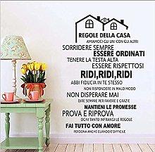 Regole Della Casa Italiana Adesivi Murali In