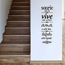 Regole della casa spagnolo Adesivo da parete