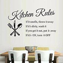 Regole Della Cucina Adesivo In Vinile Cucchiaio