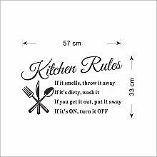 Regole della cucina rimovibili fai-da-te Lettera