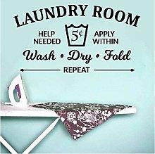 Regole della lavanderia Wall Sticker Lavare a
