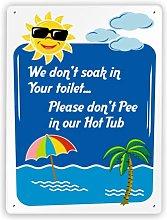 Regole Segno,Cartello umoristico per la Piscina