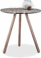 Relaxdays 10021130 Tavolino da Salotto, bronzo, 40
