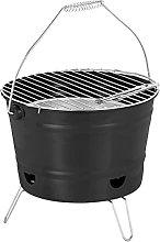 Relaxdays Barbecue Portatile, Mini Grill Rotondo,