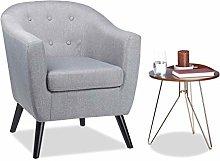 Relaxdays Poltrona Anni '50, Stile Vintage,