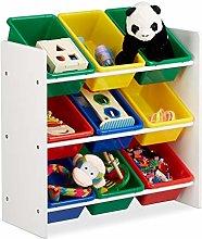 Relaxdays Scaffale per Bambini con Box