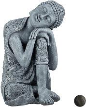 Relaxdays - Statua del Buddha con Testa Piegata,