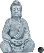 Relaxdays - Statua del Buddha Seduto XL, 50 cm,