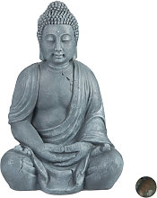 Relaxdays - Statua del Buddha Seduto XL 70cm, per