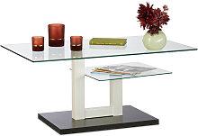 Relaxdays - Tavolino da Salotto in Vetro, Moderno,