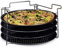 Relaxdays Teglie per Pizza, Pane, Rotonde, Set da