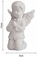 Resina bella ragazza angelo statua in miniatura