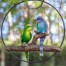 Resina Pappagallo Statue Animale Uccello Esterno