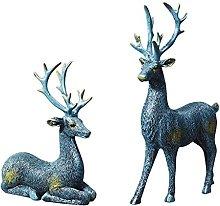 Resina Scultura Simulazione Alce Coppie Statua