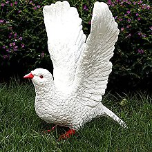 Resina Uccello Statue Da Giardino,Uccello