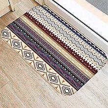 Retro Colore Stripe Pattern Antiscivolo Tappeto